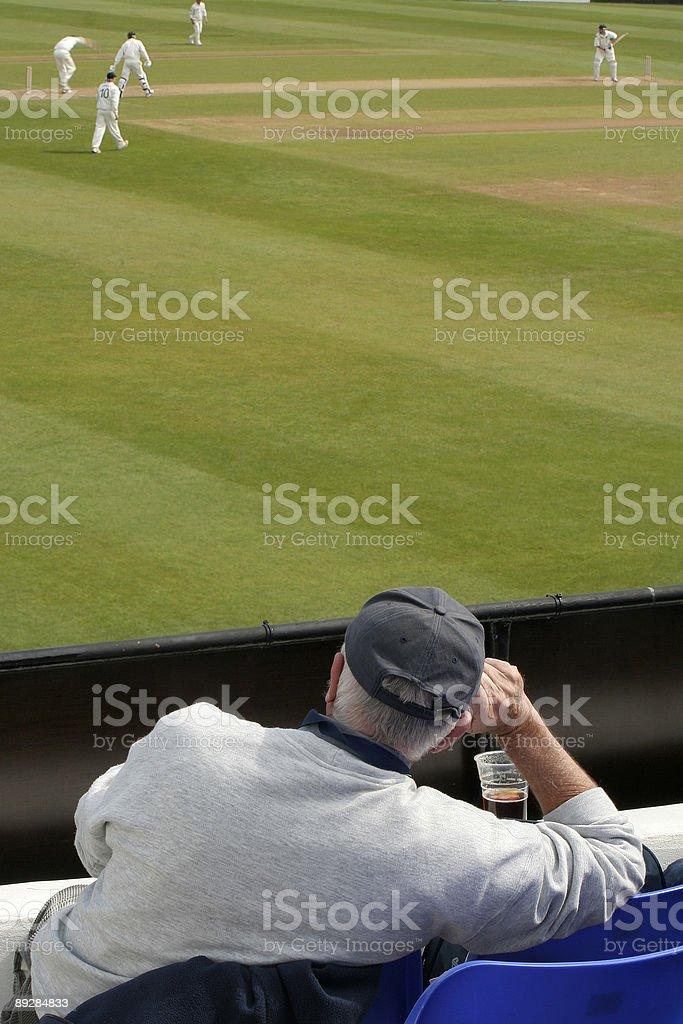 Enjoying the match stock photo