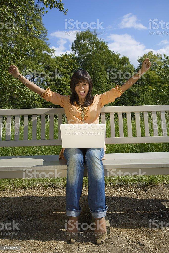 Enjoying the mobility royalty-free stock photo