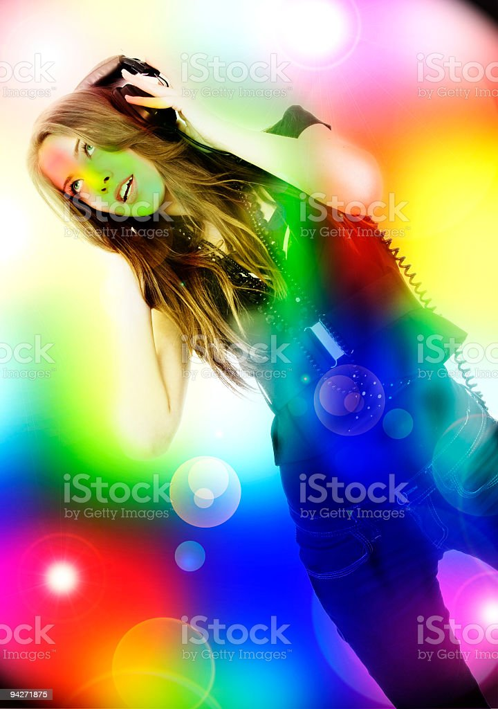 Enjoying the music in your dream stock photo