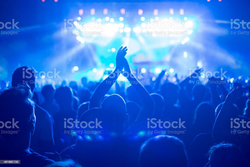 Enjoying the music stock photo