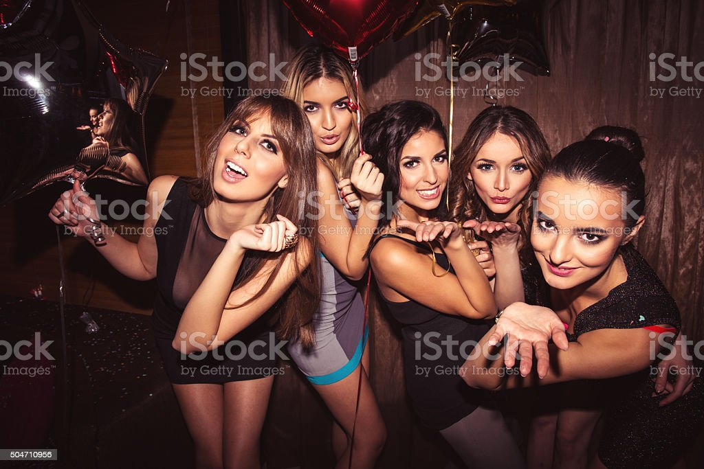 Enjoying the nightlife stock photo