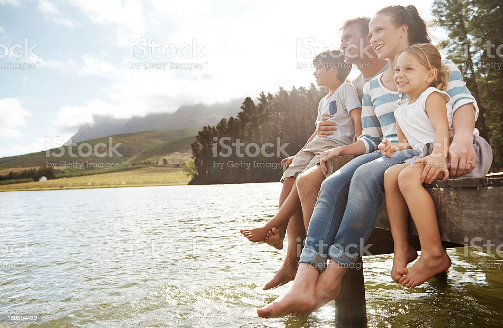 Enjoying the outdoors together royalty-free stock photo