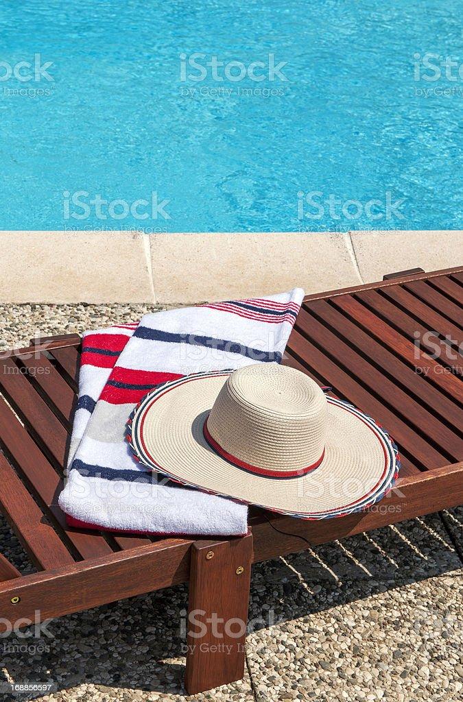 Enjoying the Pool royalty-free stock photo