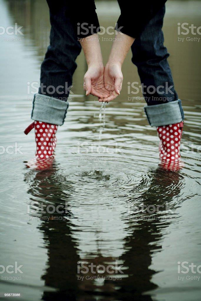 enjoying the rain royalty-free stock photo