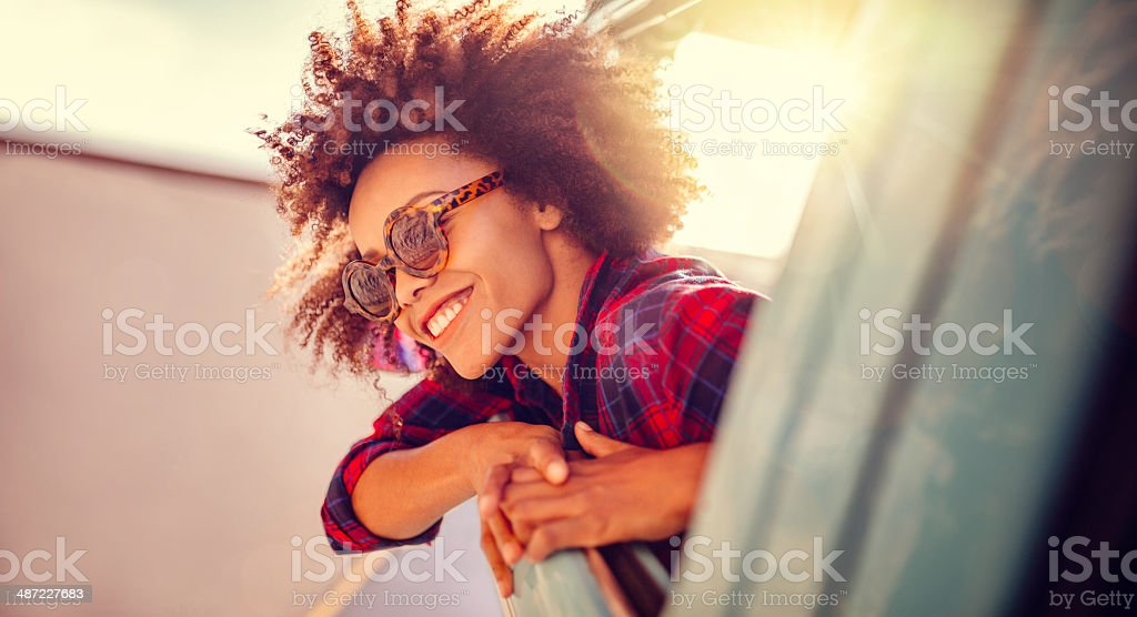 Enjoying the roadtrip royalty-free stock photo