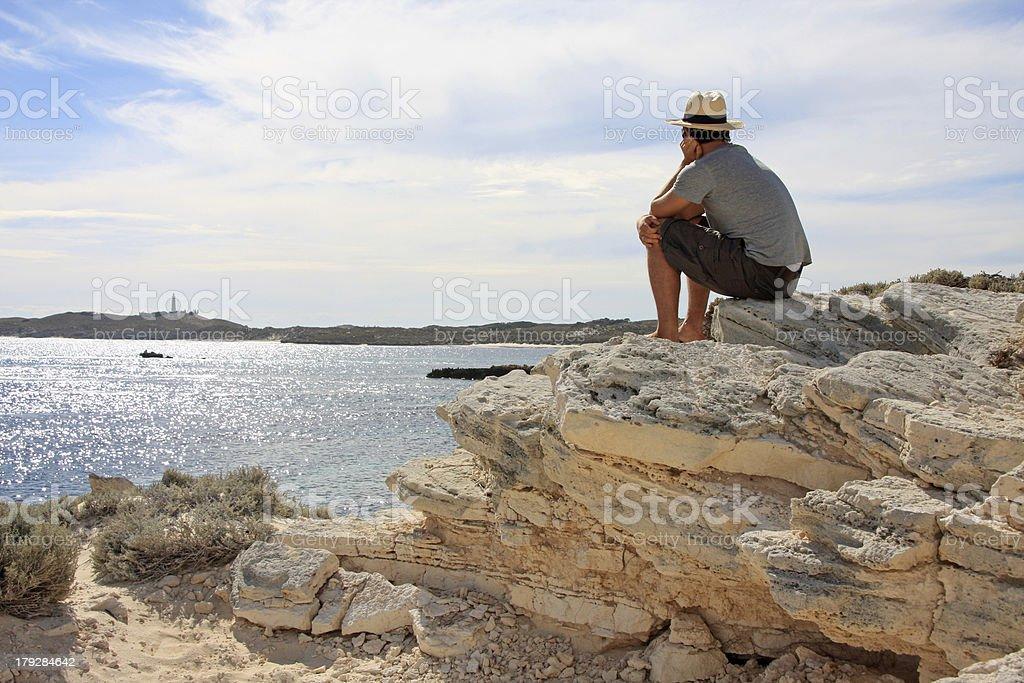 Enjoying the sea view royalty-free stock photo