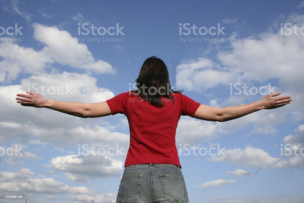 Enjoying the sky royalty-free stock photo