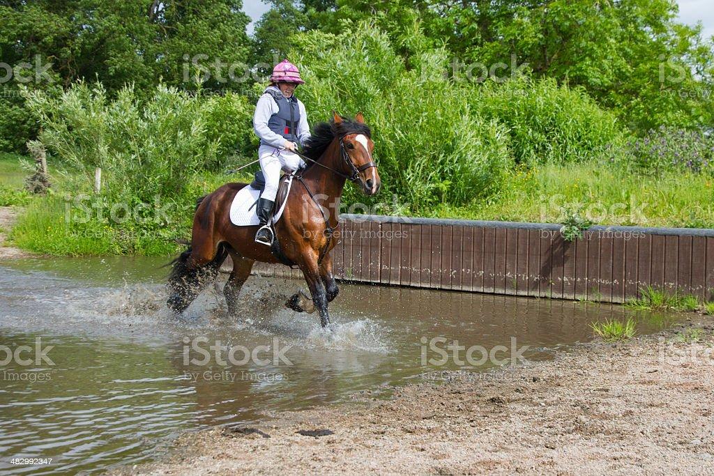 Enjoying the splash stock photo