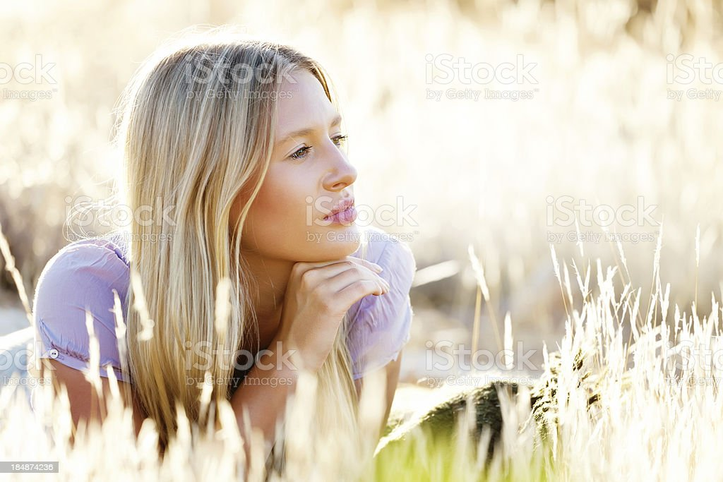 Enjoying the sun royalty-free stock photo