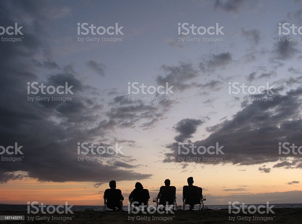 Enjoying the Sunset stock photo