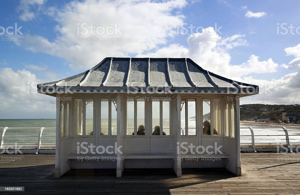 Enjoying the view from a pier royalty-free stock photo
