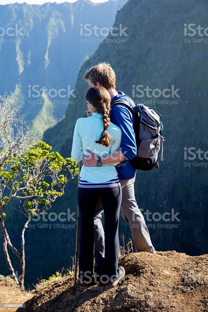 Enjoying the View on Their Honeymoon stock photo