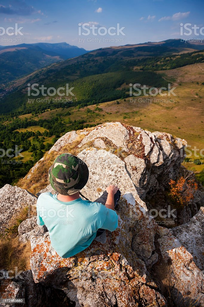 Enjoying the view royalty-free stock photo