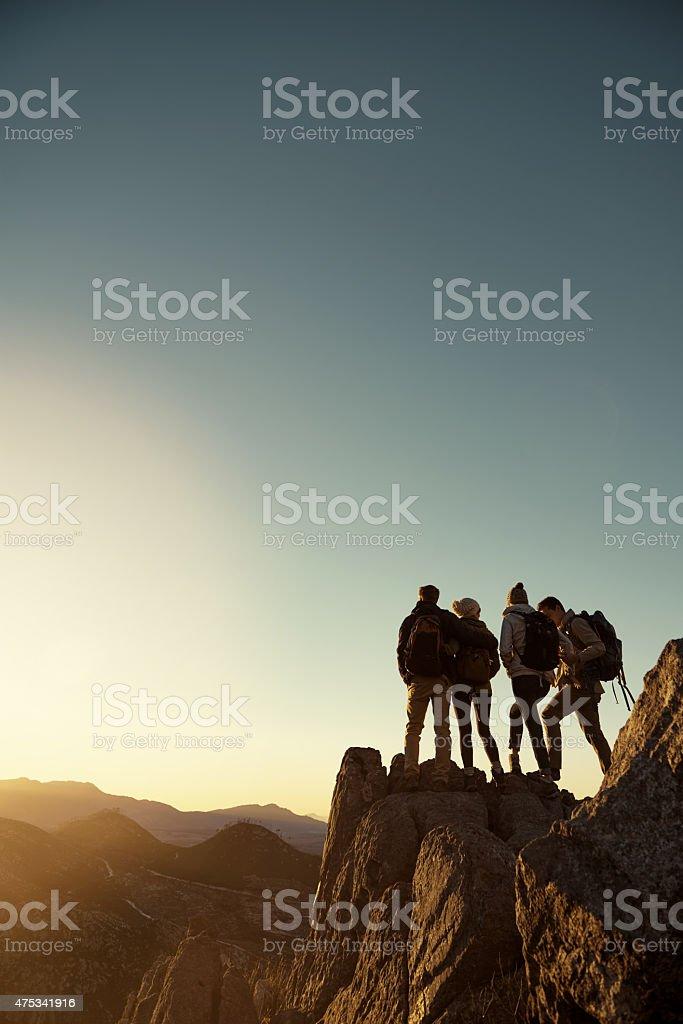 Enjoying the view stock photo
