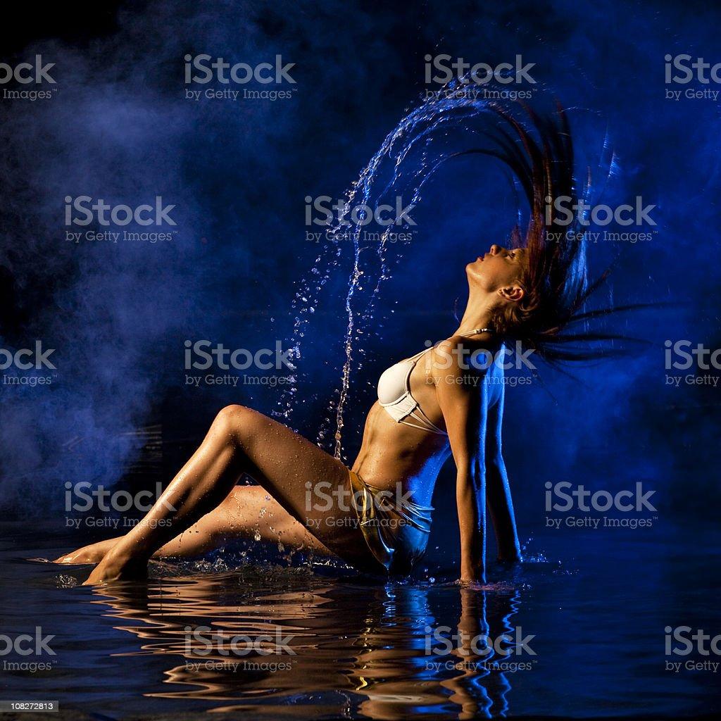 Enjoying the water stock photo