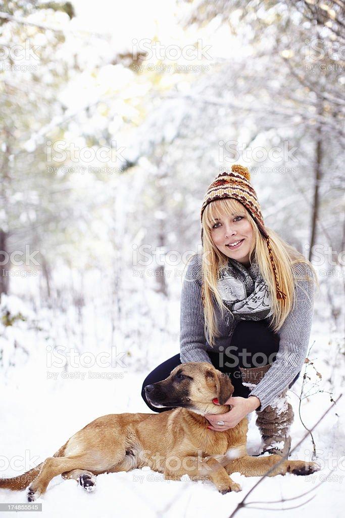 Enjoying the winter royalty-free stock photo
