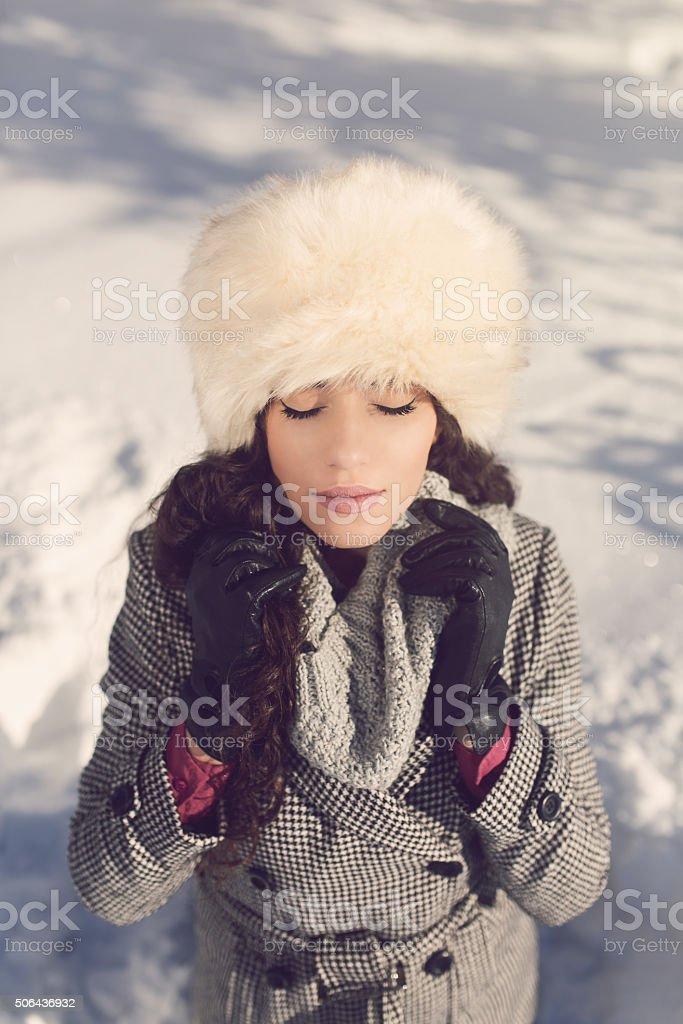Enjoying The Winter Weather stock photo