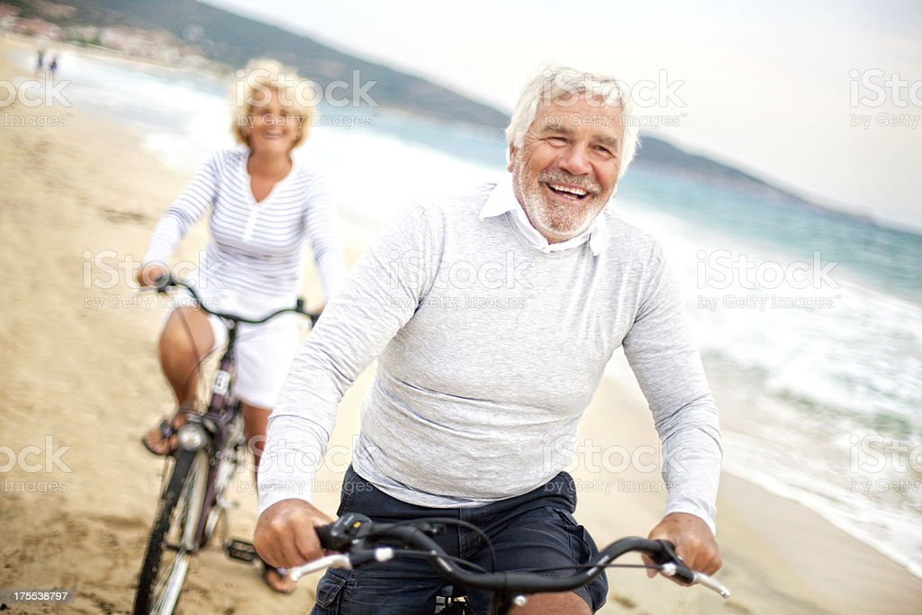 Enjoying their golden years royalty-free stock photo