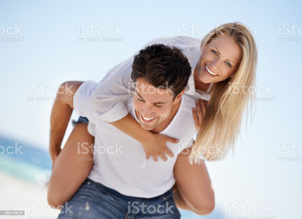 Enjoying their holiday together stock photo