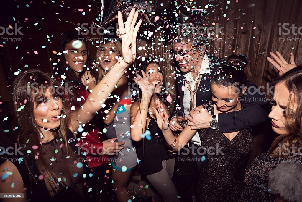 Enjoying their night out stock photo