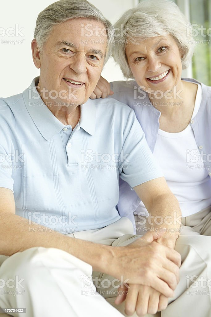 Enjoying their relaxing retirement together royalty-free stock photo