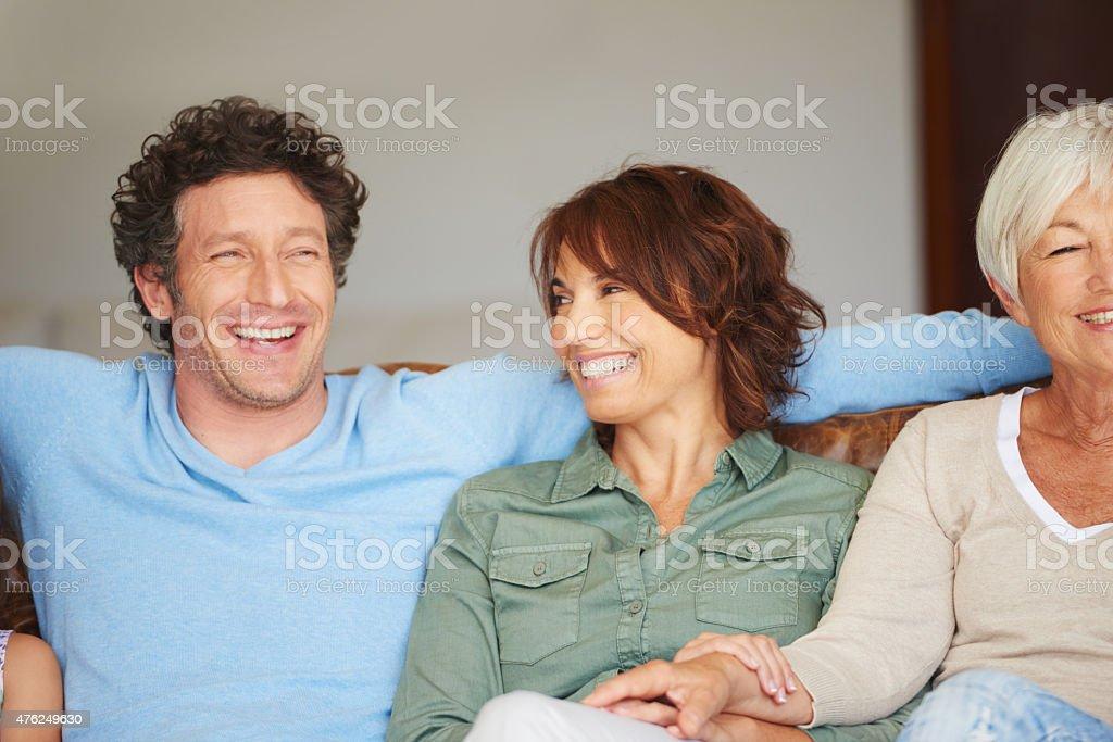 Enjoying their time together stock photo