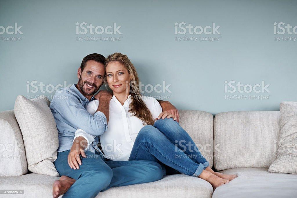 Enjoying their weekend stock photo