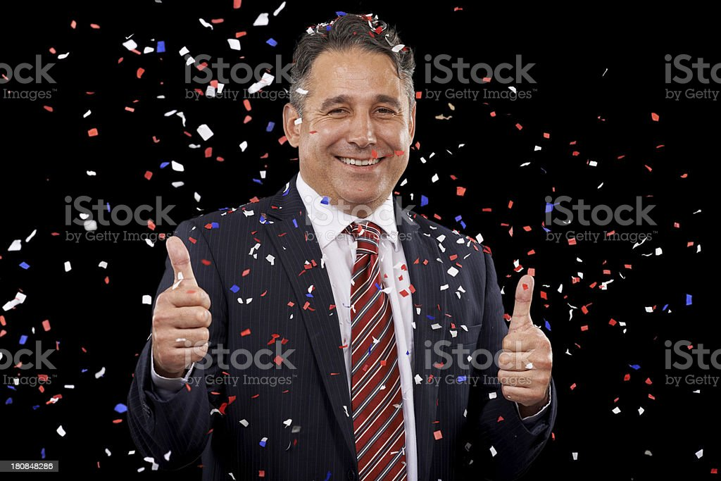 Enjoying victory royalty-free stock photo
