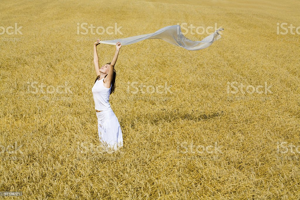 Enjoying woman royalty-free stock photo