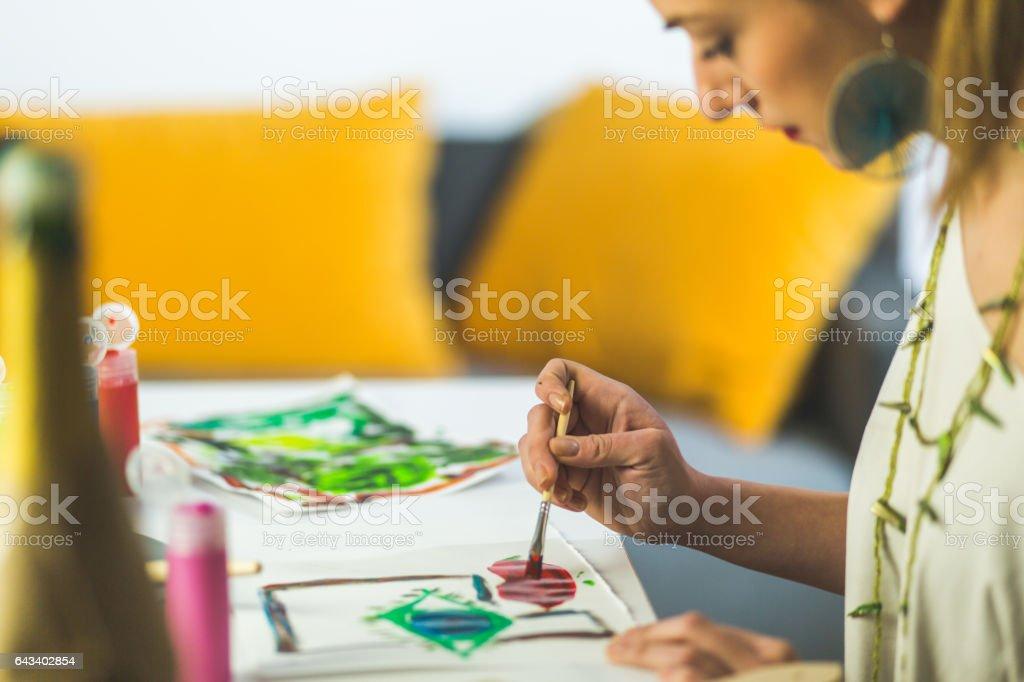 Enjoying work stock photo