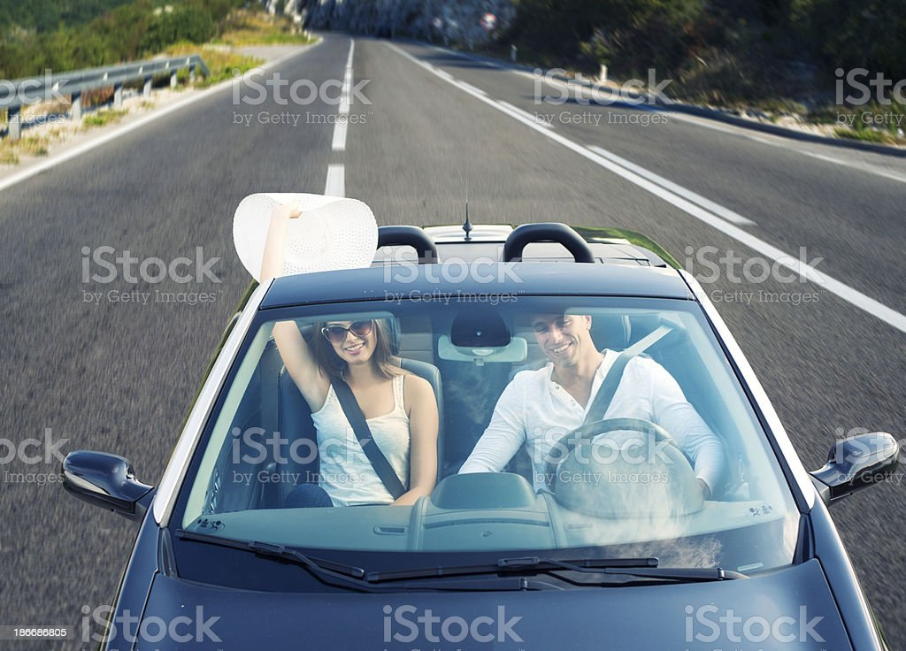 Enjoying your life in a cabriolet car royalty-free stock photo