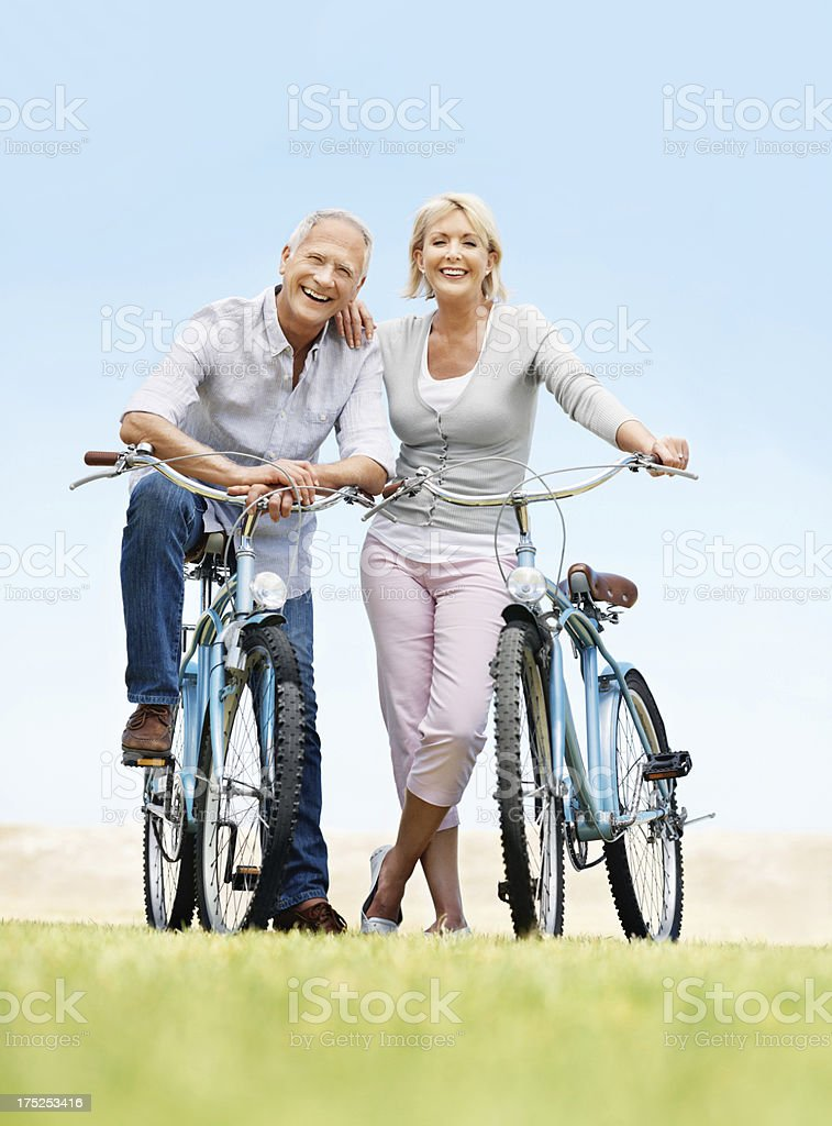 Enjoyng the freedom of retirement royalty-free stock photo