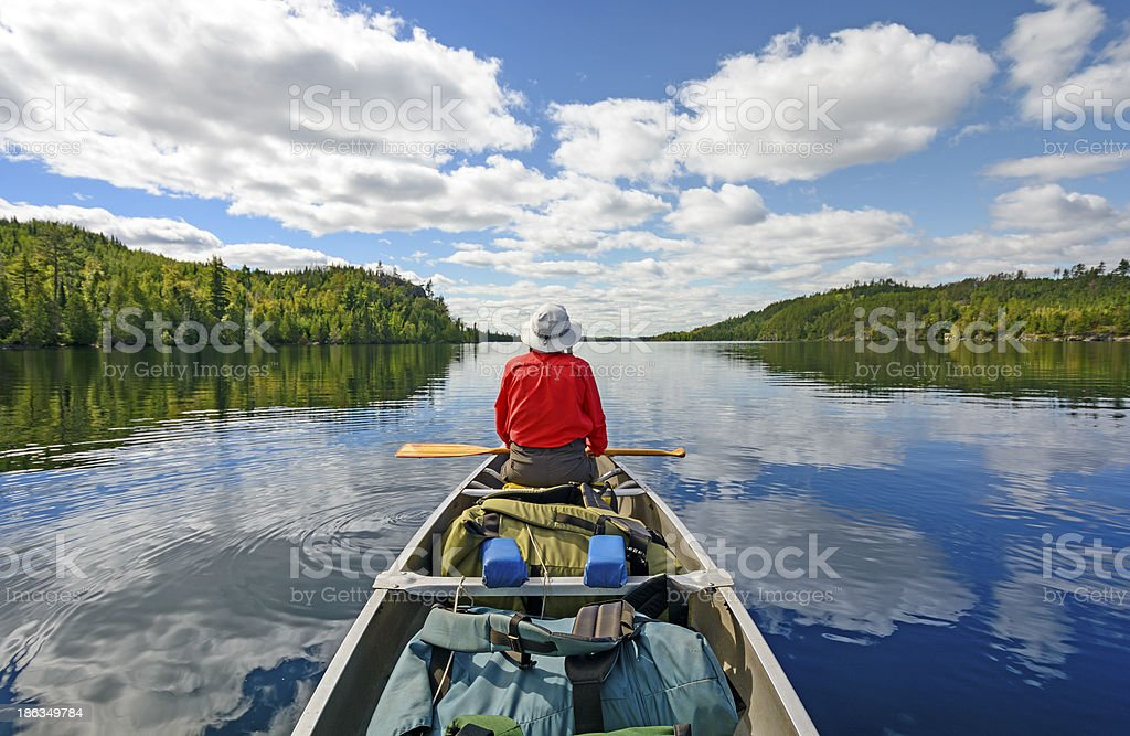 Enjoyng the Wilderness stock photo