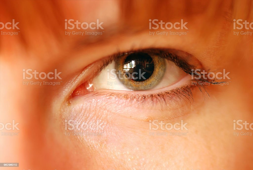 Enlarged pupil stock photo