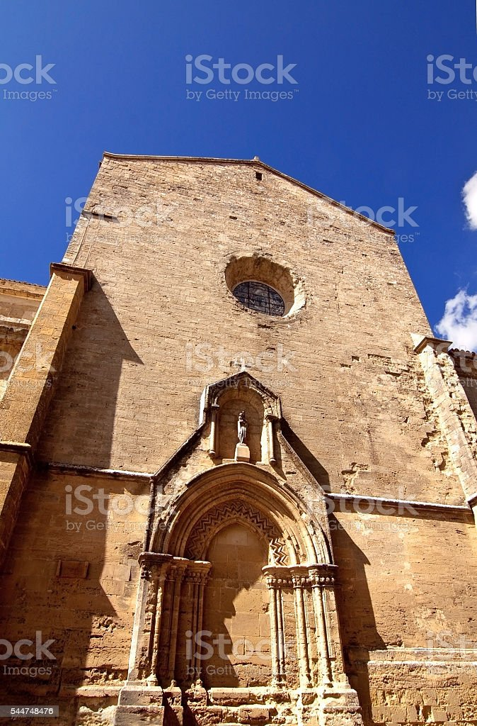 Enna cathedral stock photo