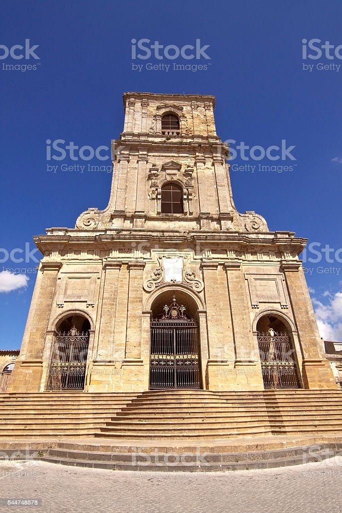 Enna cathedral ter stock photo