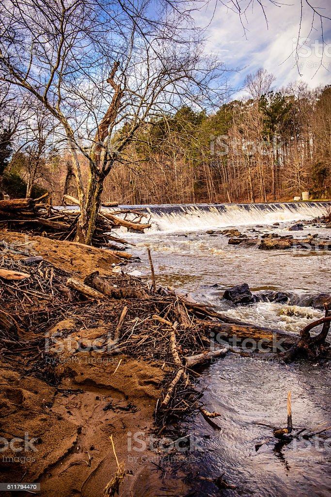 Eno River State Park in Durham, North Carolina stock photo