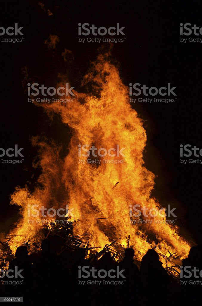 Enormous bonfire royalty-free stock photo