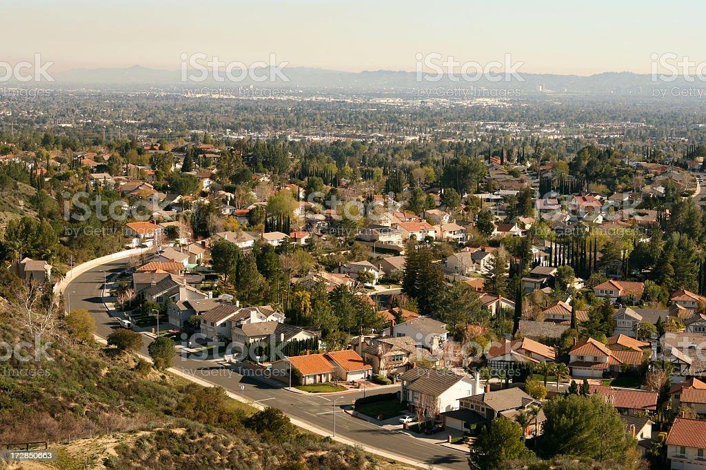 Enormous Suburban Community royalty-free stock photo
