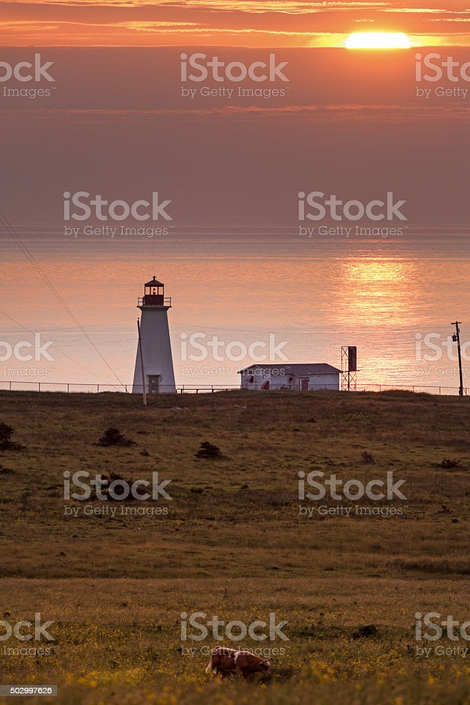 Enragée Point Lighthouse - Nova Scotia, Canada stock photo