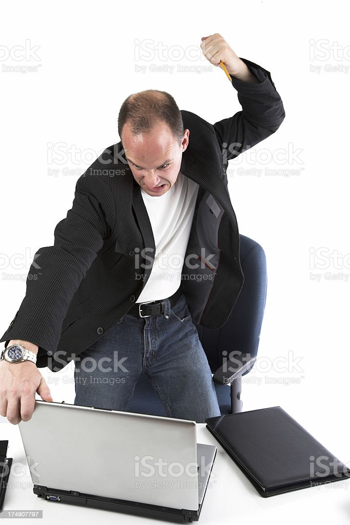 Enraged at the office royalty-free stock photo