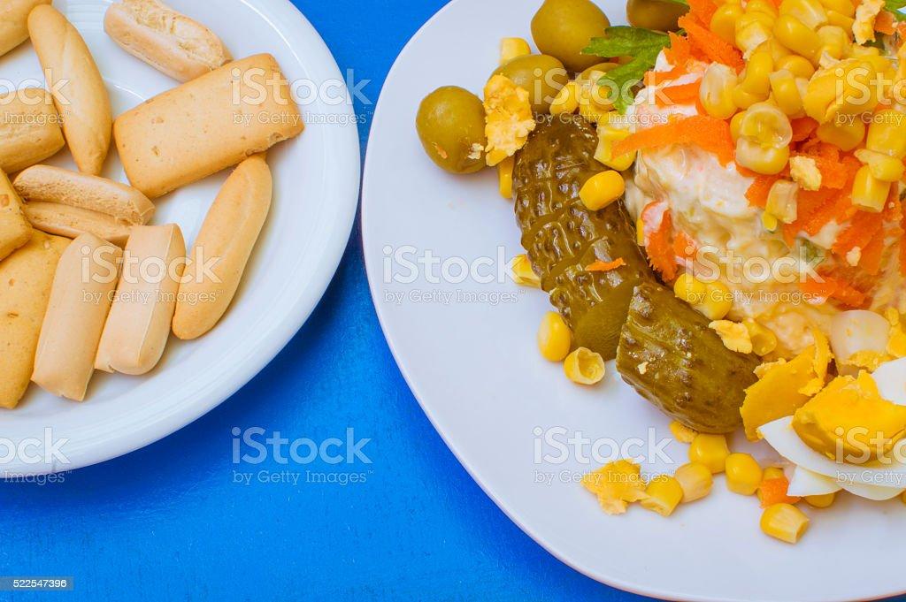 Ensalada de maiz photo libre de droits