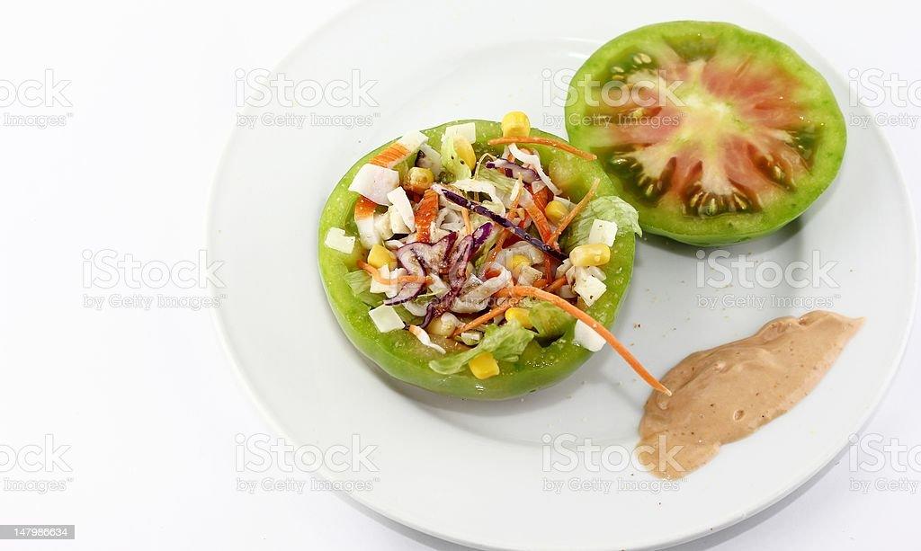 Ensalada de tomate stock photo