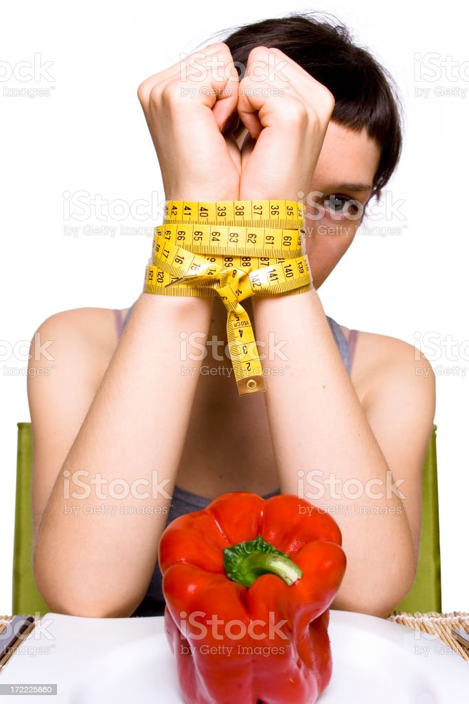 Enslaved by calories. royalty-free stock photo