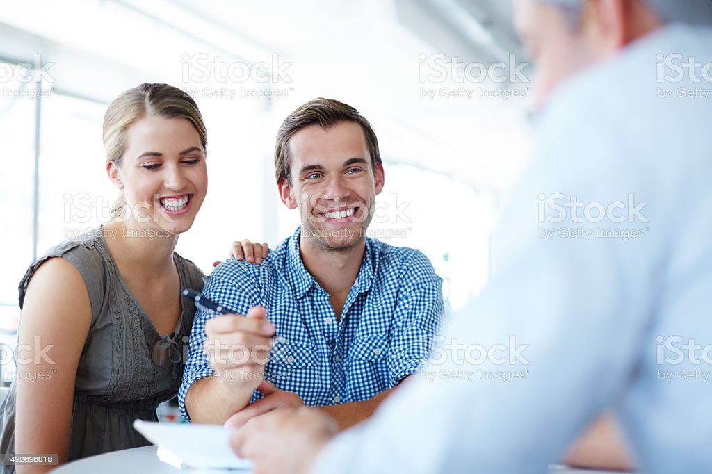 Ensuring a bright financial future stock photo