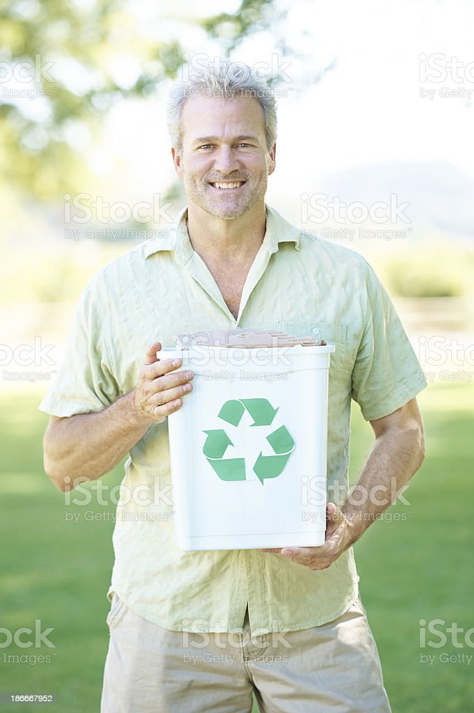 Ensuring a green future for my children royalty-free stock photo