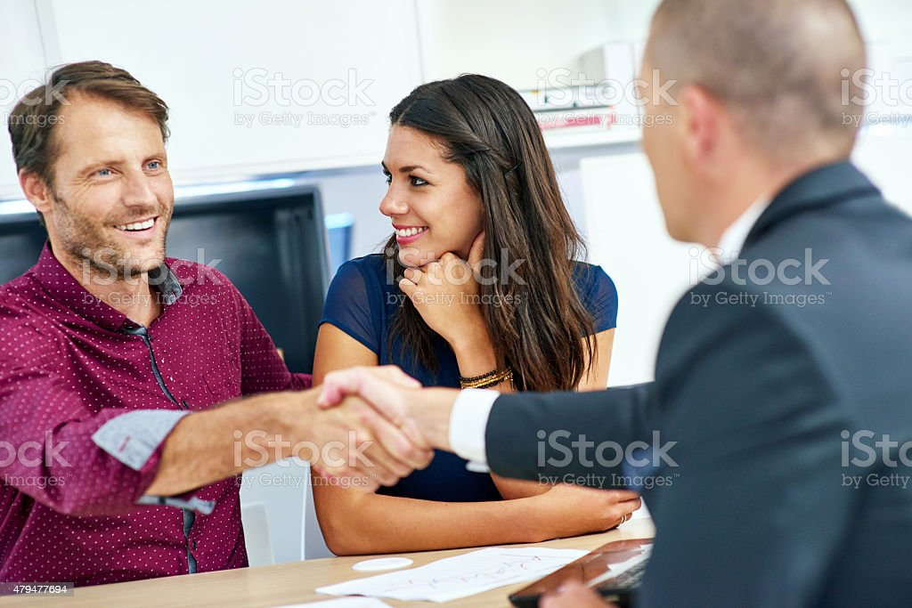 Ensuring their financial future is secure stock photo