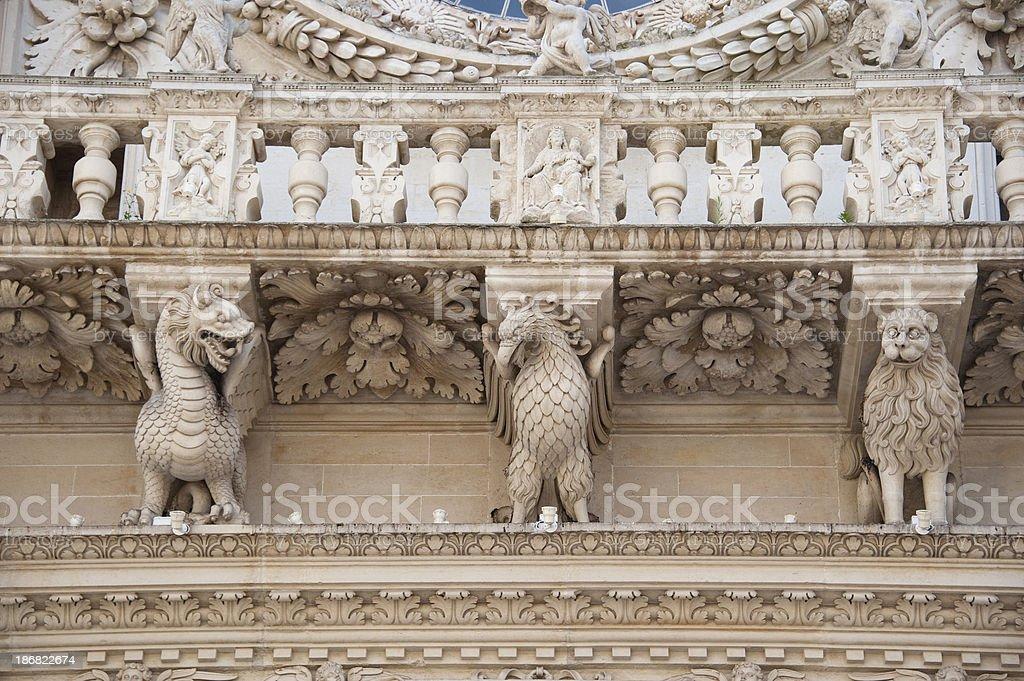 Entablature, Basilica di Santa Croce, Lecce – Italy royalty-free stock photo