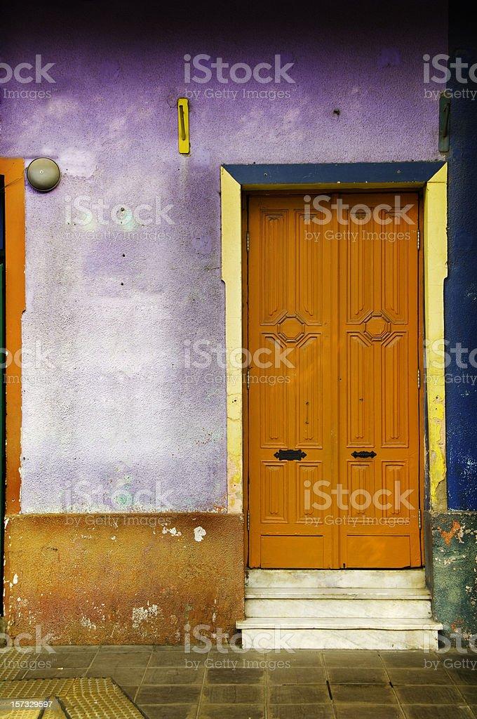 Entance door in the Caminito, La Boca royalty-free stock photo