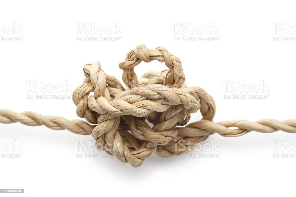 Entangled string stock photo